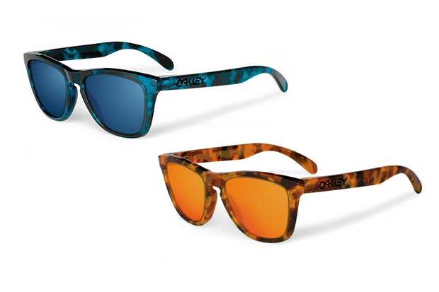 oakley frogskins acid tortoise blue sunglasses  Oakley Frogskins Collectors Edition Acid Tortoise Sunglasses Blue Orange