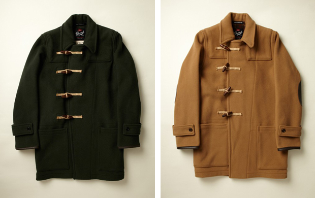 Gloverall for YMC Leather Patch Duffle Coat