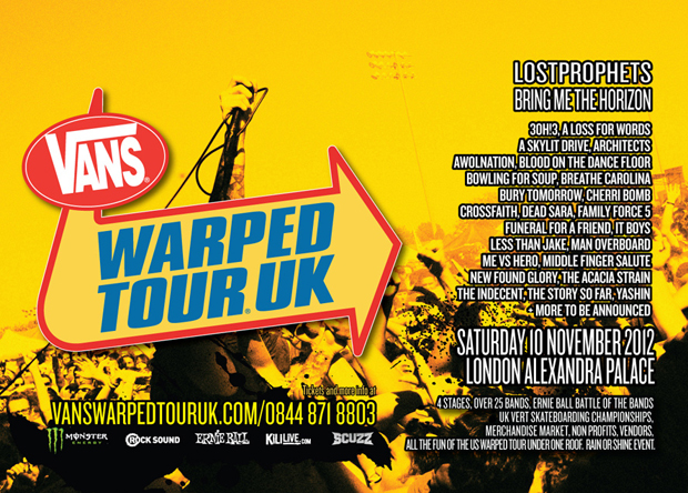 Vans warped tour dates