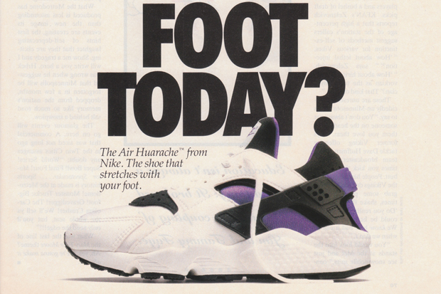 online store 905ca ac262 Original 1992 Nike Air Huarache Advert