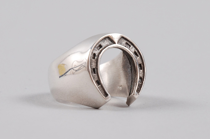 Dog State Silver Men S Horse Shoe Ring