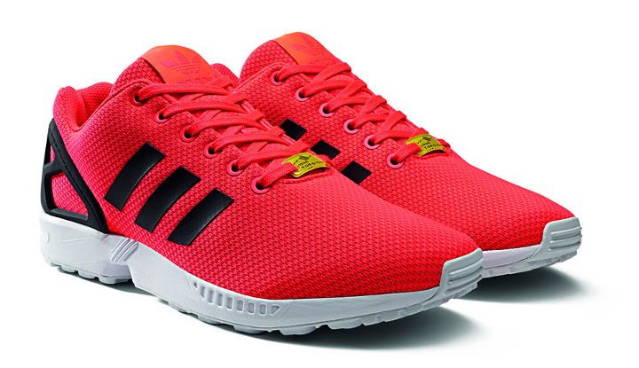 Adidas Zx Flux Red Black And White